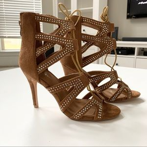 Forever Tan Heeled Sandals Size 7.5